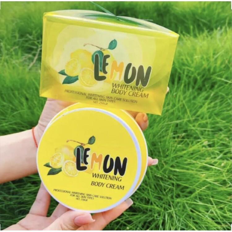 [Cao cấp] Kem Body Lemon Chanh Trắng Da Chính Hãng