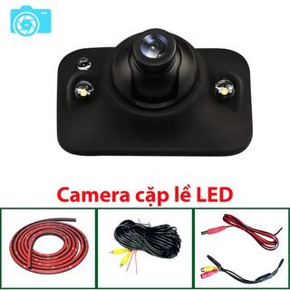 Camera cặp lề, không cần khoan gương, LED, độ phân giải 650TVLine, góc quay 140 độ, xoay 360 độ