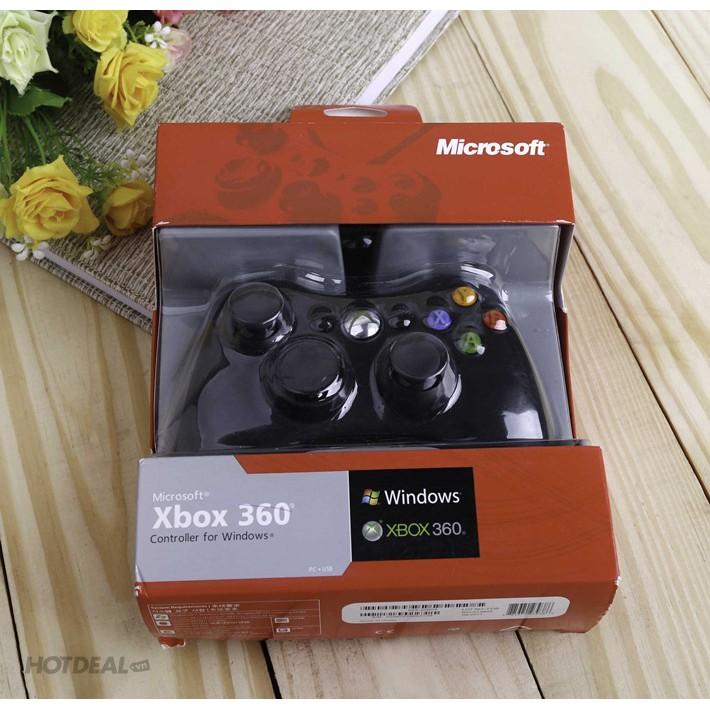 Tay cầm chơi game xbox 360 PC – tay cầm chơi game có dây chính hãng