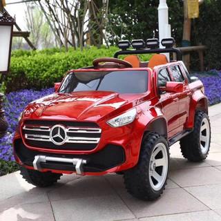 Ô tô xe điện đồ chơi vận động cho bé mẫu bán tải MERCEDES ABM 3388 (Đỏ-Đen-Xám-Trắng-Vàng)