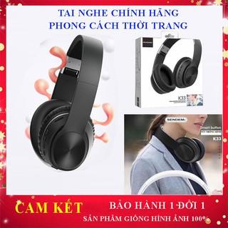[Freeship] Tai Nghe Không Dây Chính Hãng Sendem K33, Tay Nghe Bluetooth có khe thẻ nhớ, chụp tai thể thao sang trọng