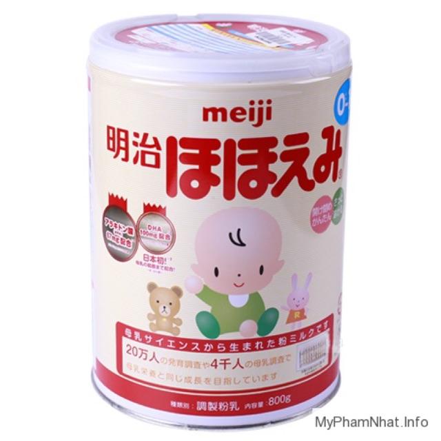 Sữa Meiji 0-1 dạng lon 800g