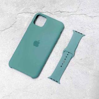 Dây đeo silicone mềm màu xanh lá cho Apple Watch 38 42 44 40mm thumbnail