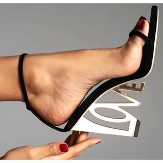 Sandal cao gót 11cm cao cấp chữ love