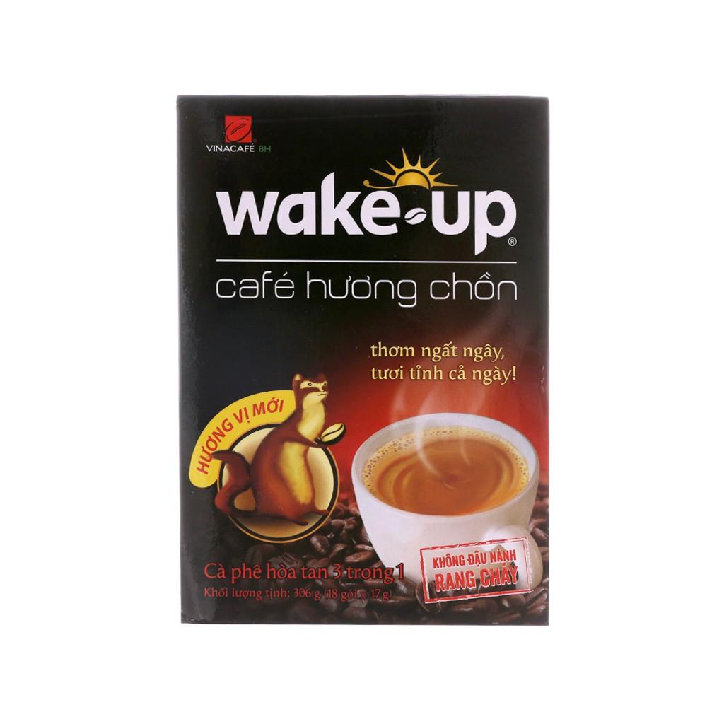 Cà phê hòa tan Wake Up Hương chồn 306g (17g x 18 gói) - 15136469 , 2370510380 , 322_2370510380 , 87000 , Ca-phe-hoa-tan-Wake-Up-Huong-chon-306g-17g-x-18-goi-322_2370510380 , shopee.vn , Cà phê hòa tan Wake Up Hương chồn 306g (17g x 18 gói)