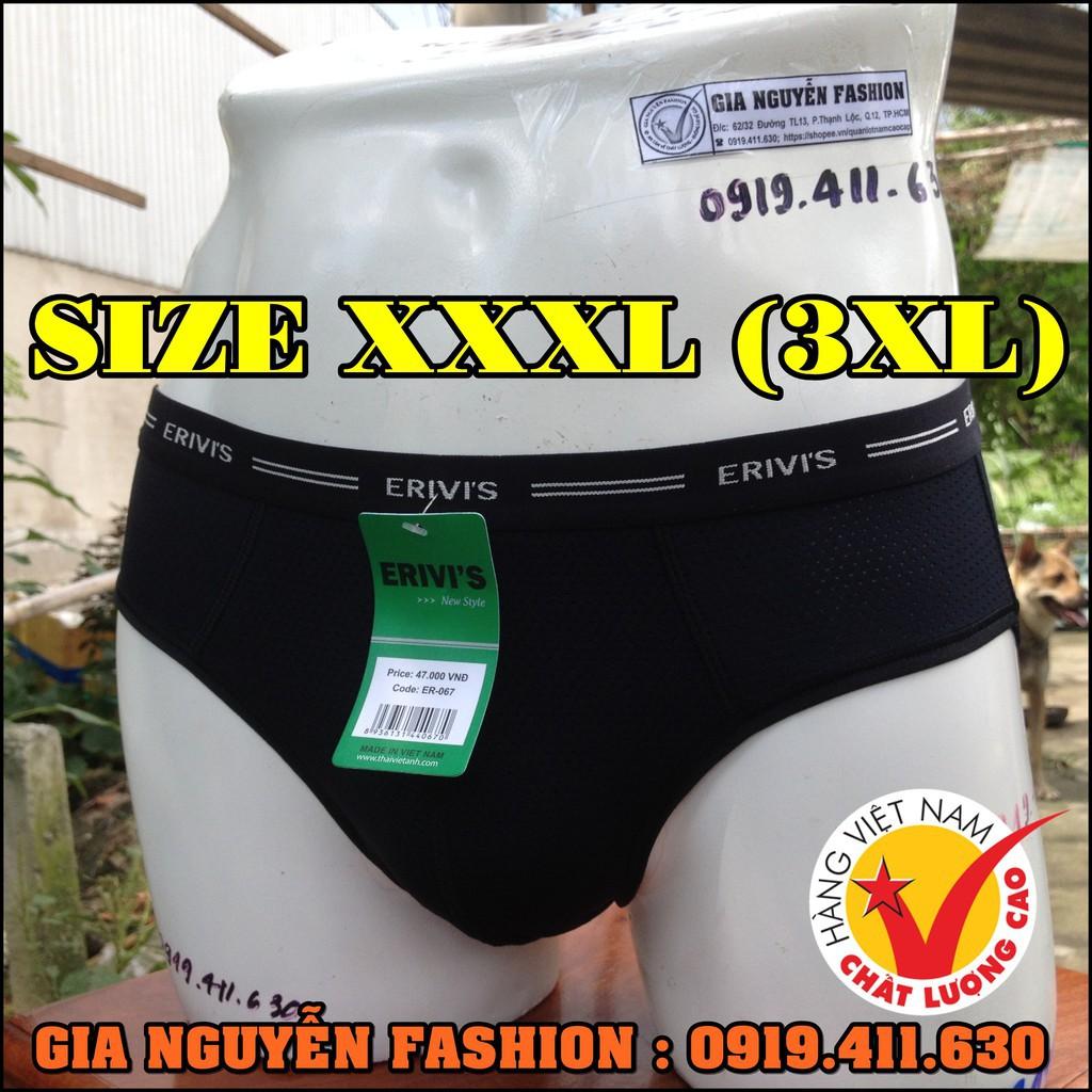 Size lớn 3XL: Combo 4 Quần lót thông hơi - Hàng Việt Nam cao cấp