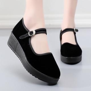 Giày nữ độn đế chống trượt cao ráo order quảng châu 5-7n