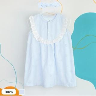 Váy đầm vintage ren ngực thêu nổi kèm băng đô LA POMME D026
