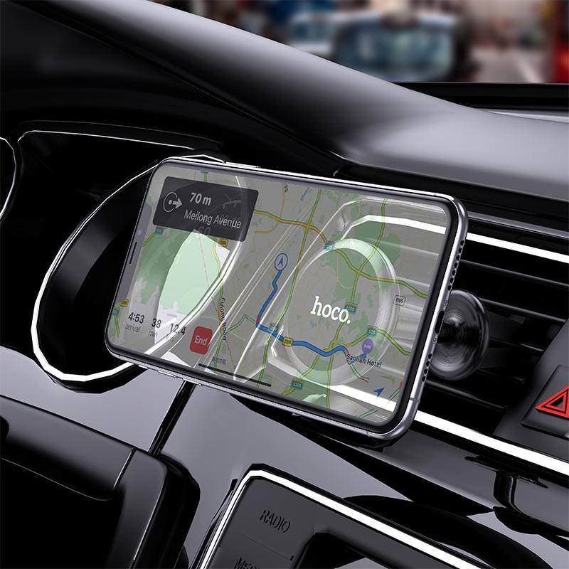 Giá đỡ điện thoại xe hơi HOCO CA69 Chính hãng (Hợp kim nhôm) gắn cửa gió điều hòa ô tô hàng chính hãng chất lượng cao