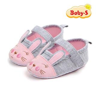Giày tập đi bằng vải cho bé gái 0-18 tháng chất vải mềm mại nhẹ nhàng thân thiện cho bé yêu Baby-S STD17 thumbnail