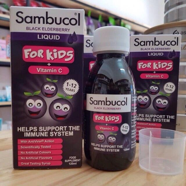 Sambucol tăng đề kháng cho bé