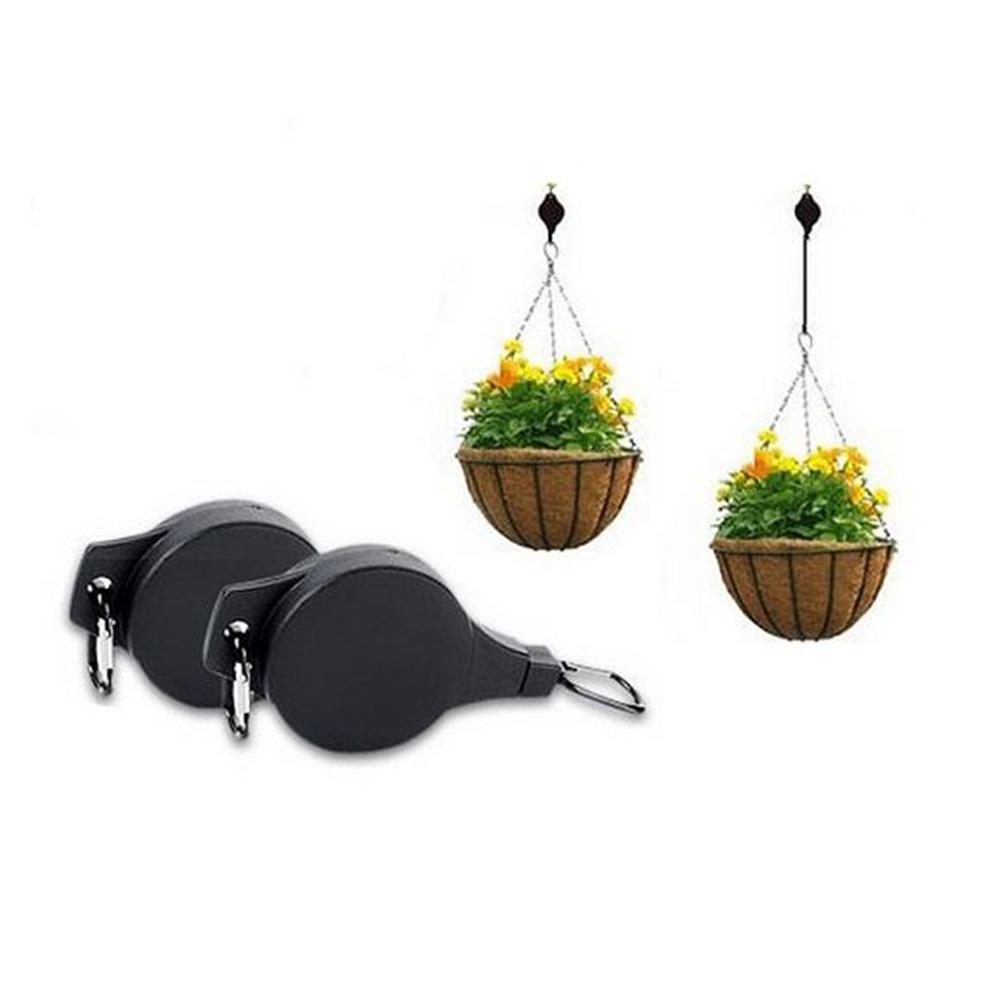 Planter Plant Pot Hooks Garden Basket Telescopic Plastic Pull Down Hanging Household Hanger Retractable Chain Flower