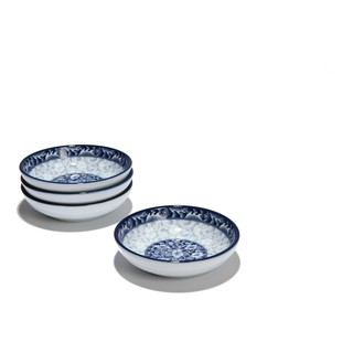 Bộ 4 đĩa chấm sứ Sambo nhập khẩu Hàn Quốc 11.5cm MD-066/4
