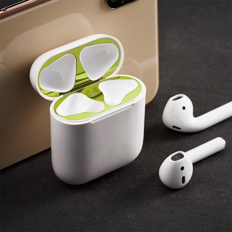 Miếng Dán Kim Loại Chống Bụi Cho Tai Nghe Apple Airpods