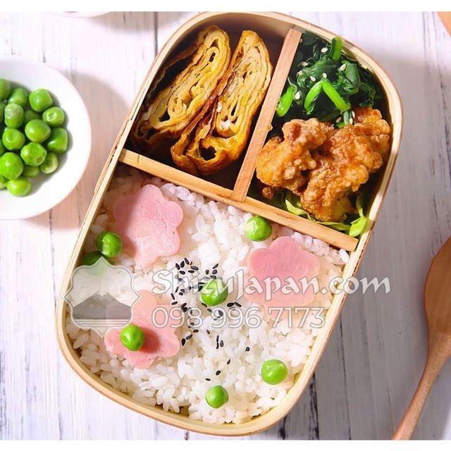 Hộp Cơm Gỗ Bento Nhật Bản - Chế Tác Thủ Công Từ Gỗ Liễu Sam Nhật Bản
