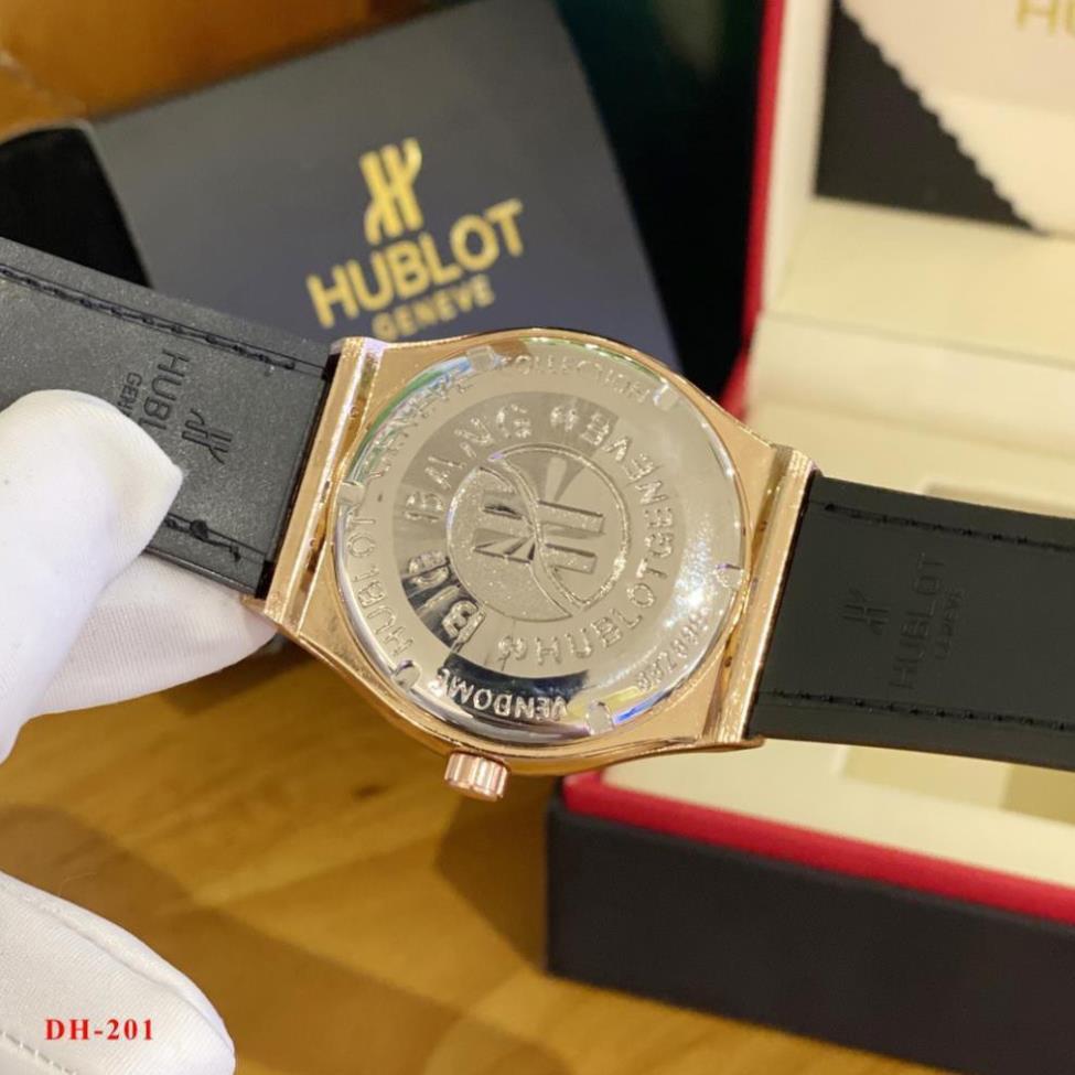 (Thẻ bảo hành 12 tháng) [Hàng cao cấp] Đồng hồ nam HB-42mm máy pin kim thể thao, tặng vòng -Hublot.vientron