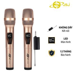 Mẫu Mới Micro karaoke không dây cao cấp JSJ-W121 tích hợp màn hình led chuyên nghiệp, công nghệ giảm tiếng ồn thông minh
