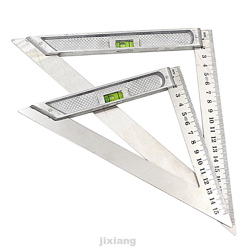 stainless steel Triangle ruler with Level Horizontal bead Ideal for engineers, craft persons tools