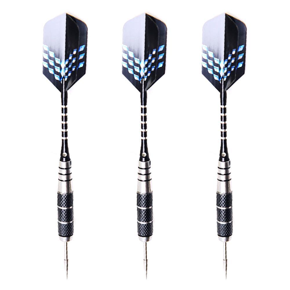 3Pcs Darts Safety Engraved With Black Safety Flame Tail