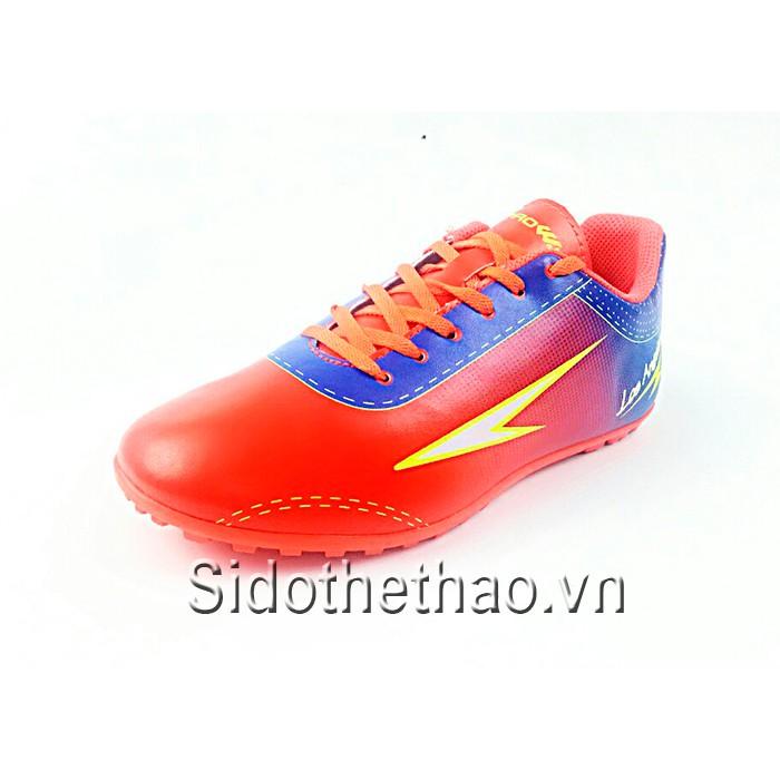 Giày đá bóng đá banh Prowin Los Angeles màu đỏ cam xanh