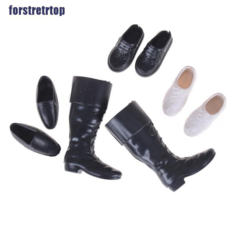 【FSTTTOP】4 Pairs/Set Dolls Cusp Shoes Sneakers Knee High Boots for Boyfriend D