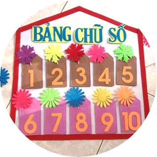 40x40cm Bảng chữ số vải nỉ giao màu ngẫu nhiên-đồ chơi mầm non tự làm