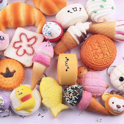 Jumbo 10Pcs Squishy Bread/Panda/Cake/Buns Random Gift Donuts