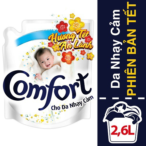 Nước xả Comfort Cho Da Nhạy Cảm 2.6L phiên bản tết (67342946)