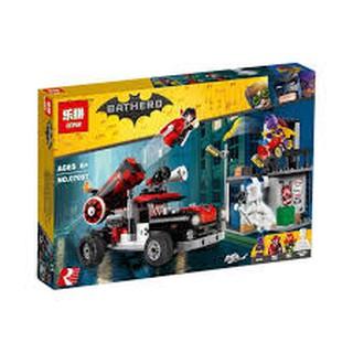 Lắp ráp xếp hình Lego Batman Movie 70921 SY1012 Bela 10880 Lepin 07097: Xe Bắn Pháo Harley Quinn