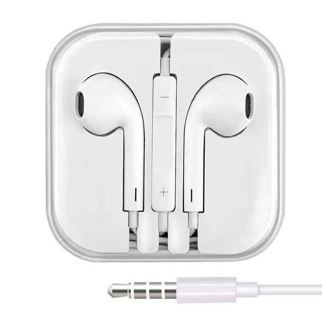 Tai nghe nhét tai màu trắng kết nối 3.5mm có mic đàm thoại Stereo Sound Earphone With MIC Bass Boots In-Ear Headphone