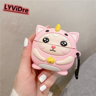 LYViDre 3D Pink Cute cartoon dinosaur girl Earphone Case For Huawei Freebud 4i Protective Case For Huawei Freebud 4i Bluetooth Headset Decoration Cover Earphone Accessories