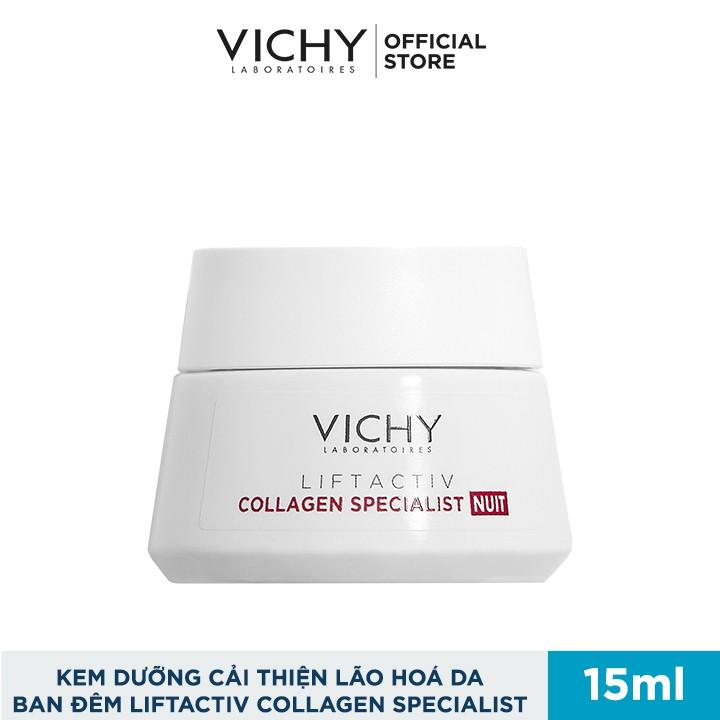Bộ kem dưỡng hỗ trợ săn chắc, ngăn ngừa lão hóa và làm sáng da về đêm Vichy Liftactiv Collagen Specialist Night