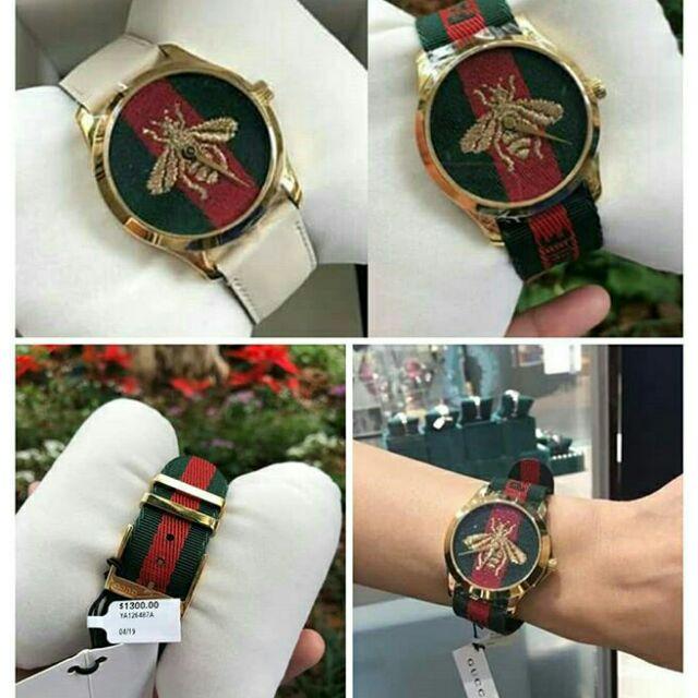นาฬิกาแบรนด์ GUCCI LE MARCHE DES MERVEILLES - YA126487A   สั่งซื้อแอด🆔Line: aisha_tookta
