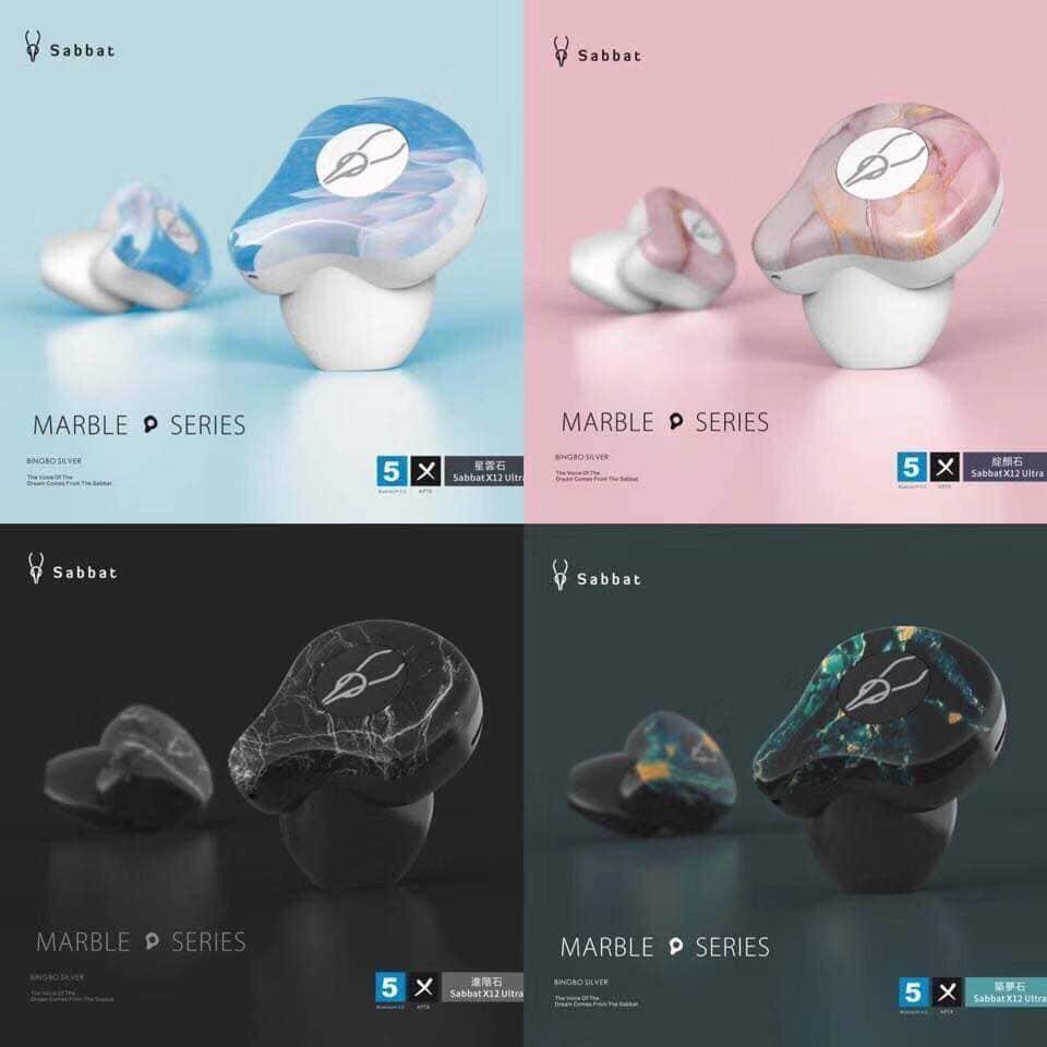 Tai nghe bluetooth Sabbat X12 ultra phiên bản vân đá cẩm thạch - Marble series chính hãng