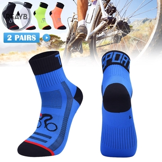 Reayb 2 Pairs Professional Cycling Socks Road Bicycle Socks Racing Bike Sport Socks for Men Women