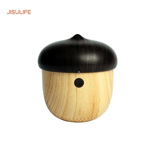Loa bluetooth mini gỗ hình quả sồi làm móc treo, tích hợp micro hỗ trợ đàm thoại tiện lợi Jisulife J2_Bảo hành 12 tháng