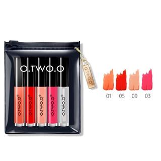 5Pcs/Set Lip Oil Liquid Lipsticks Waterproof Matte Lip Gloss Makeup Set