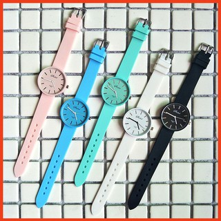 Đồng hồ thời trang nam nữ Shdshd dây silicon cá tính nhiều màu Bảo Hành Đổi Mới