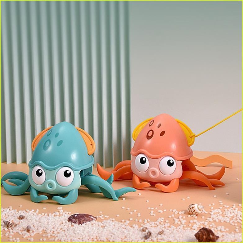 Đồ chơi bạch tuộc bơi lội trong nước,chạy ngang có cót,đồ chơi phòng tắm vui nhộn cho bé
