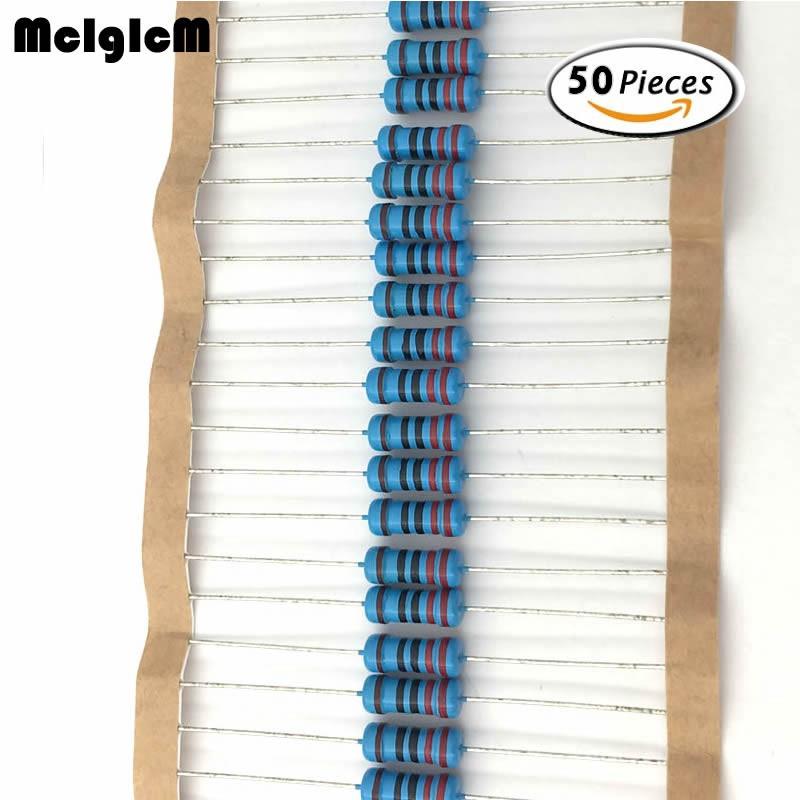 50 Điện trở màng kim loại 1W 0.33-2.2M ôm