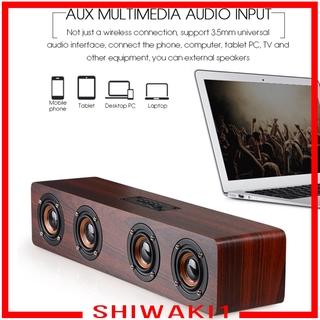 Loa Bluetooth Shiwaki1 Bằng Gỗ Âm Thanh Sống Động 380mm