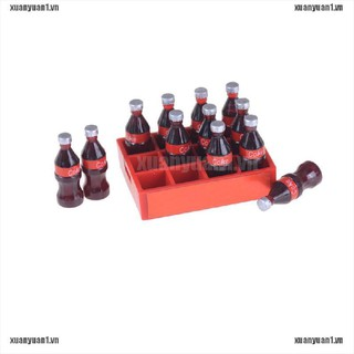 【XUANYUAN1】13pcs/set 1:12 Mini Coke Tray Model Toys Dollhouse Miniature Toy Do