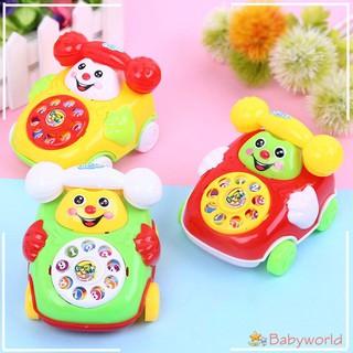 Plastic Smile Cartoon Simulation Phone Kids Educational Toy【BabyWorld1】