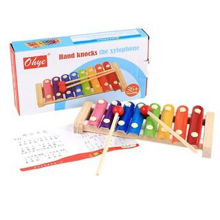 Đàn gỗ và kim loại Xylophone nhiều màu sắc