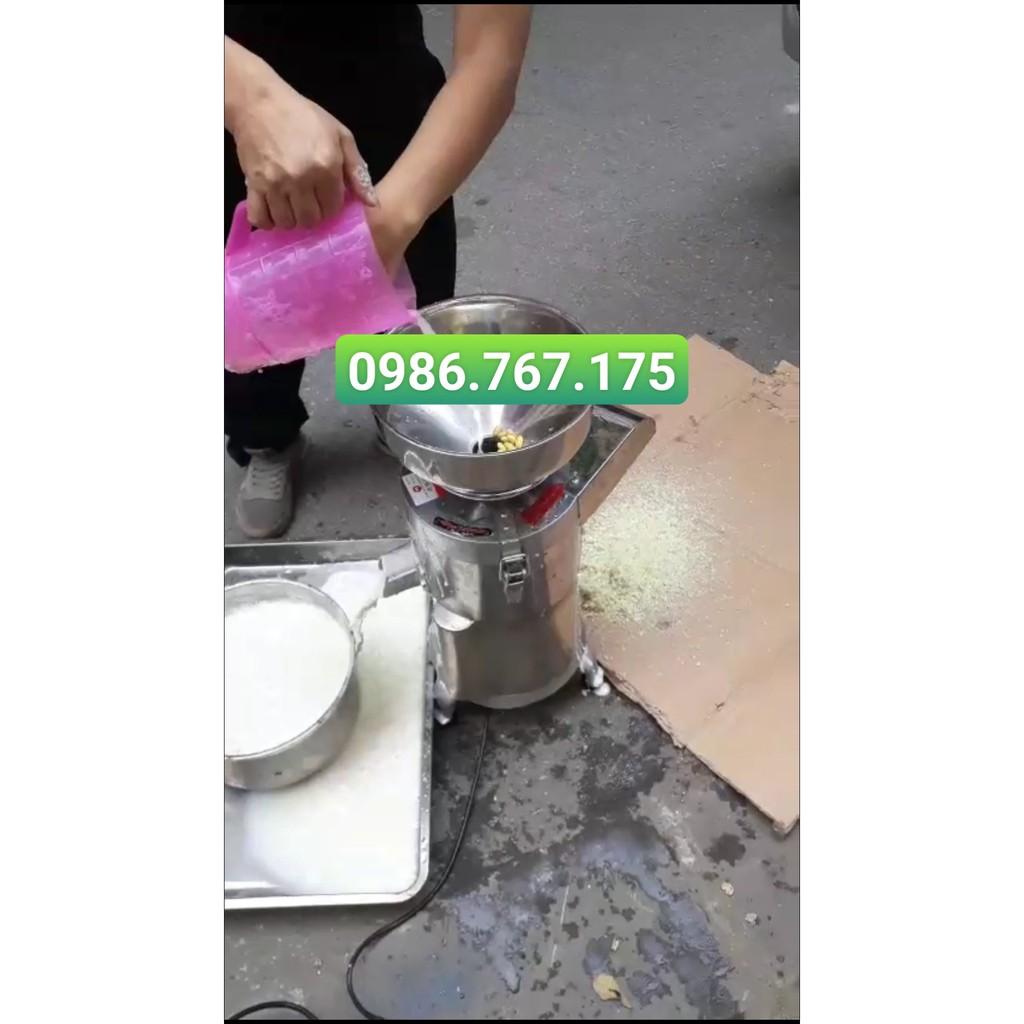Máy làm sữa ngô non, sữa bắp, làm sữa đậu nành nguyên chất - Máy vừa xay vừa lọc 20kg/h, chất liệu Inox