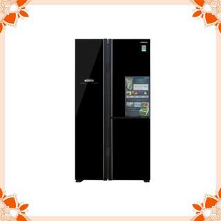 Tủ lạnh Hitachi side by side 3 cửa màu đen R-FM800PGV2(GBK)
