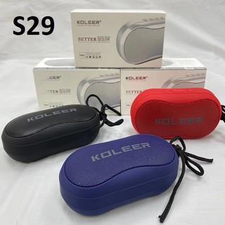 Loa Bluetooth mini cầm tay Không Dây KOLEER S29 Loa di động Âm thanh sống động Bass Trầm Chất Lượng Cao