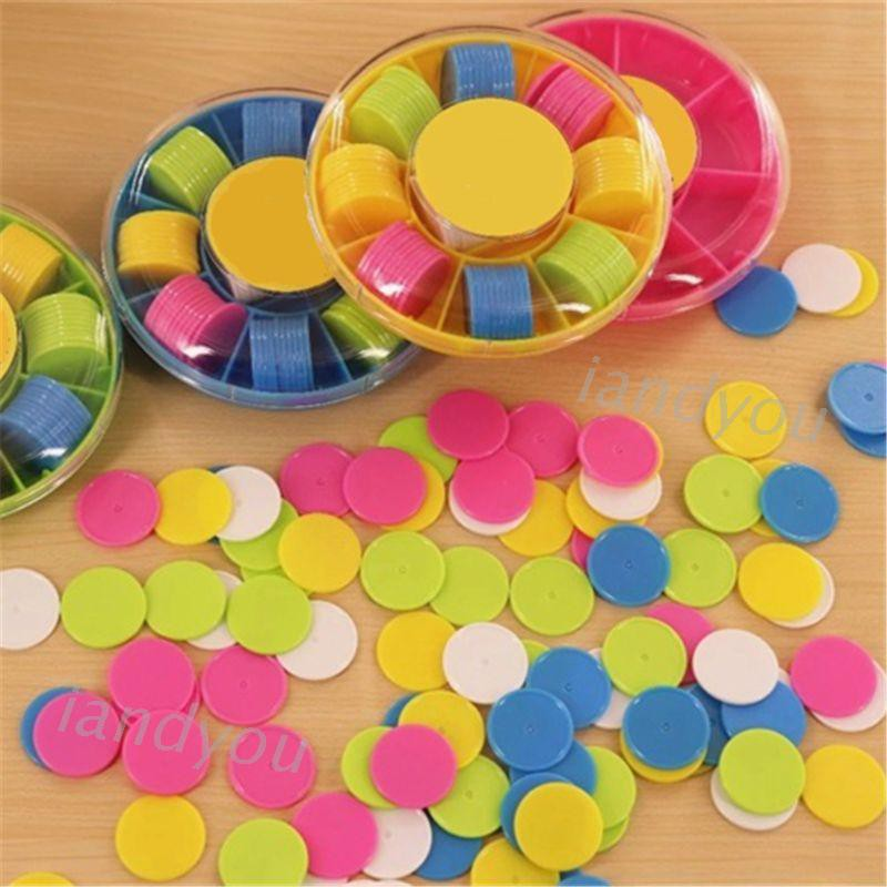100Pcs Counters Counting Chips Plastic Markers 25 mm Mixed Colors for Bingo Chips Game Tokens