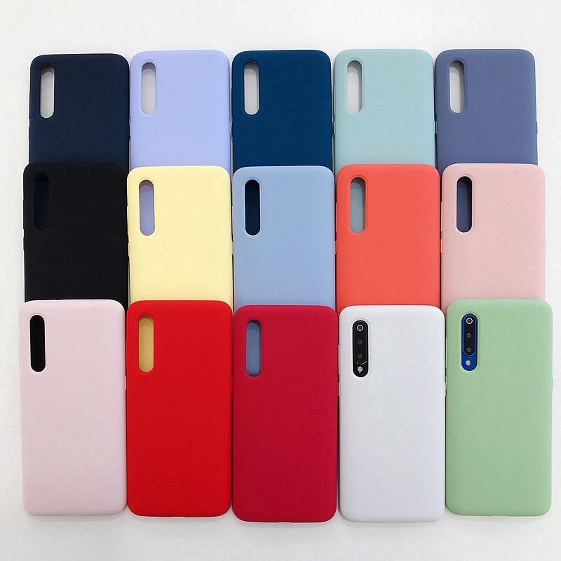 Upgrade Phone Casing Silicone Original Liquid Case Full Coverage for Xiaomi Mi 9 9se Case