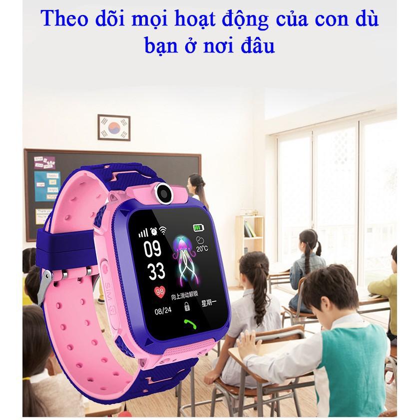 [TIẾNG VIỆT] Đồng hồ định vị trẻ em GPS A28 Chống nước IP67, có Camera chụp ảnh từ xa, đồng hồ thông minh chống nước